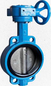【關牌】D371X對夾蝸輪蝶閥 16公斤