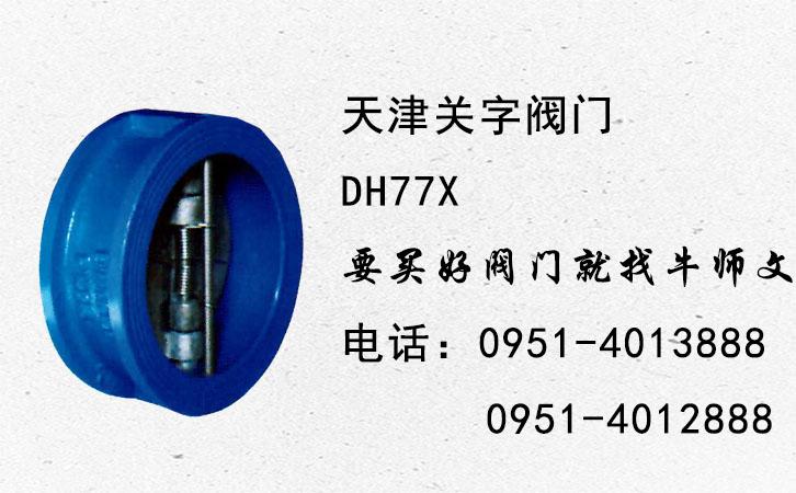 【关牌】DH77X对夹式蝶形止回阀 16公斤